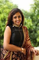 Lasya looks super cute in black choli Saree at Raja Meru Keka Press Meet ~  Exclusive 028.JPG