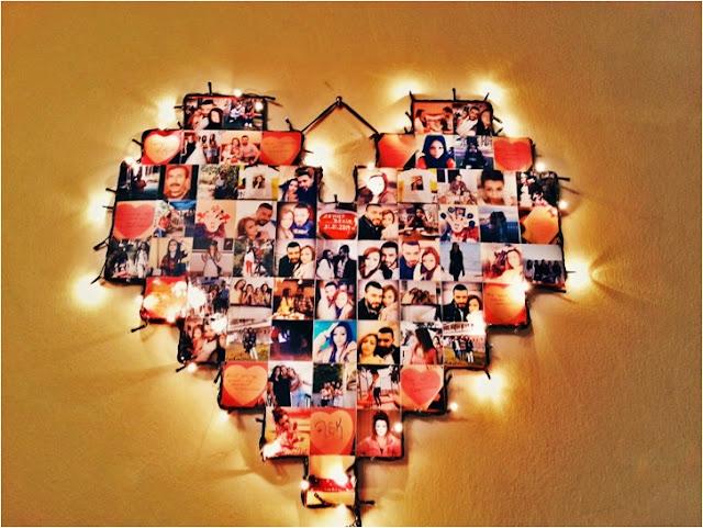 Işıklı Kalp Pano