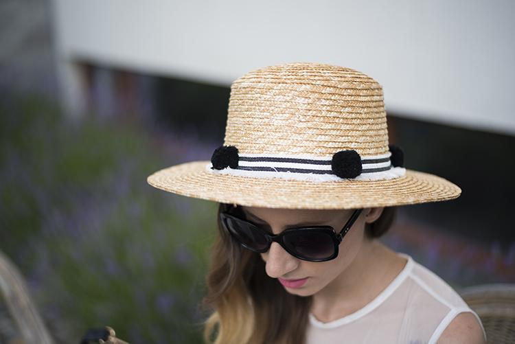 Skinny Buddha Meli Melo straw boater hat