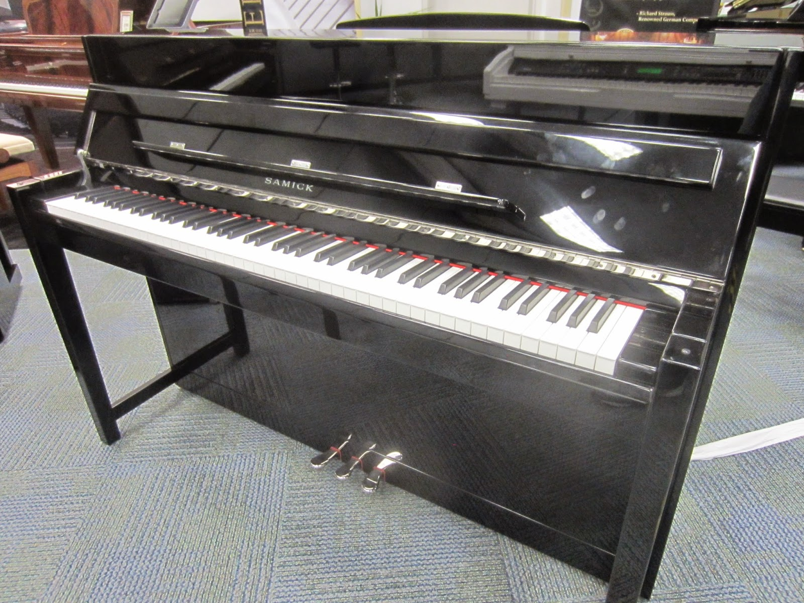 Samick Ebony NEO hybrid digital upright piano