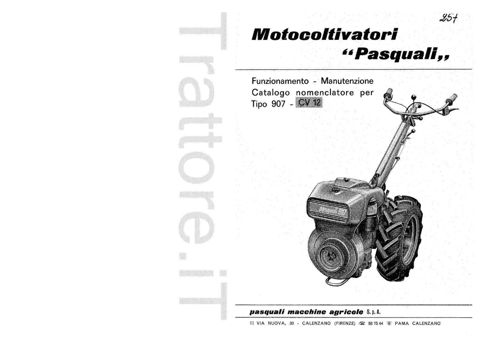 InfoTrattore.it: Motocoltivatore Pasquali 907 CV 12