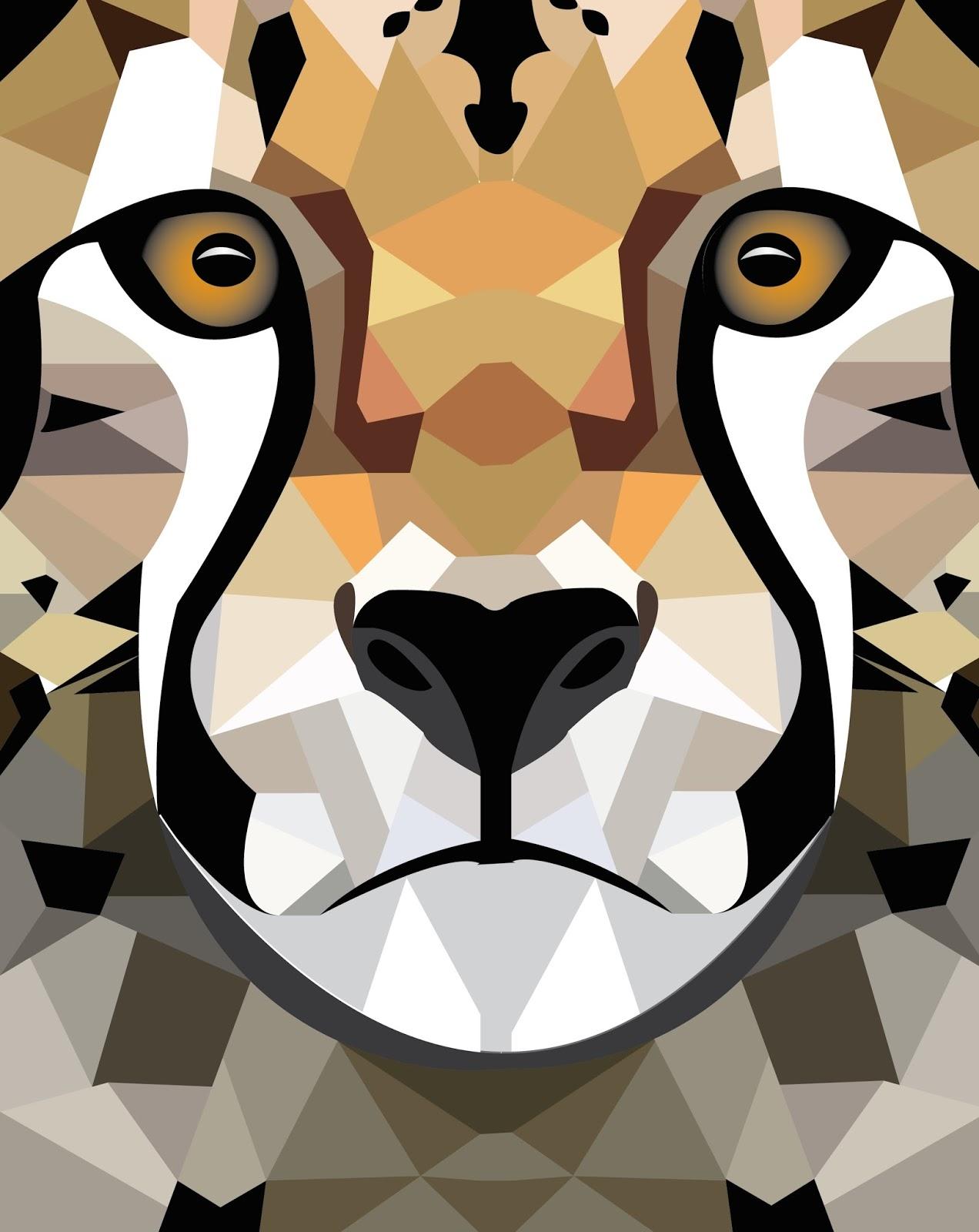 Skyline High School Graphic Design 1: Geometric Animal Head