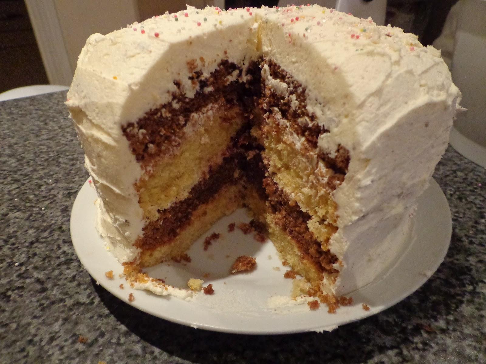 Layered Vanilla Cake Recipes: Lousia's Baking Diary: Chocolate And Vanilla 4 Layer Cake