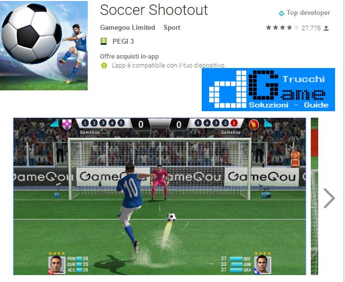 Trucchi Soccer Shootout Mod Apk Android v0.7.7