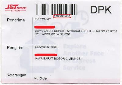 nomor resi pengiriman j&t print out