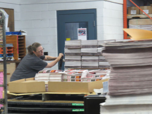 racks full of newspapers