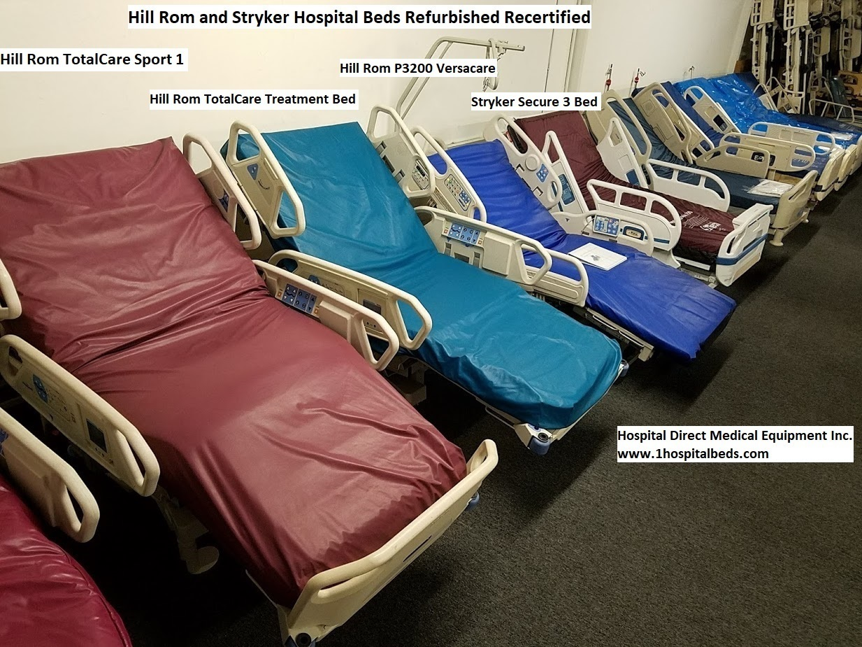 online retailer c9c16 586f0 We sell a wide variety of Hill Rom and Stryker hospital beds and medical  beds in stock which are used for outpatient care, hospital care, home care  and long ...