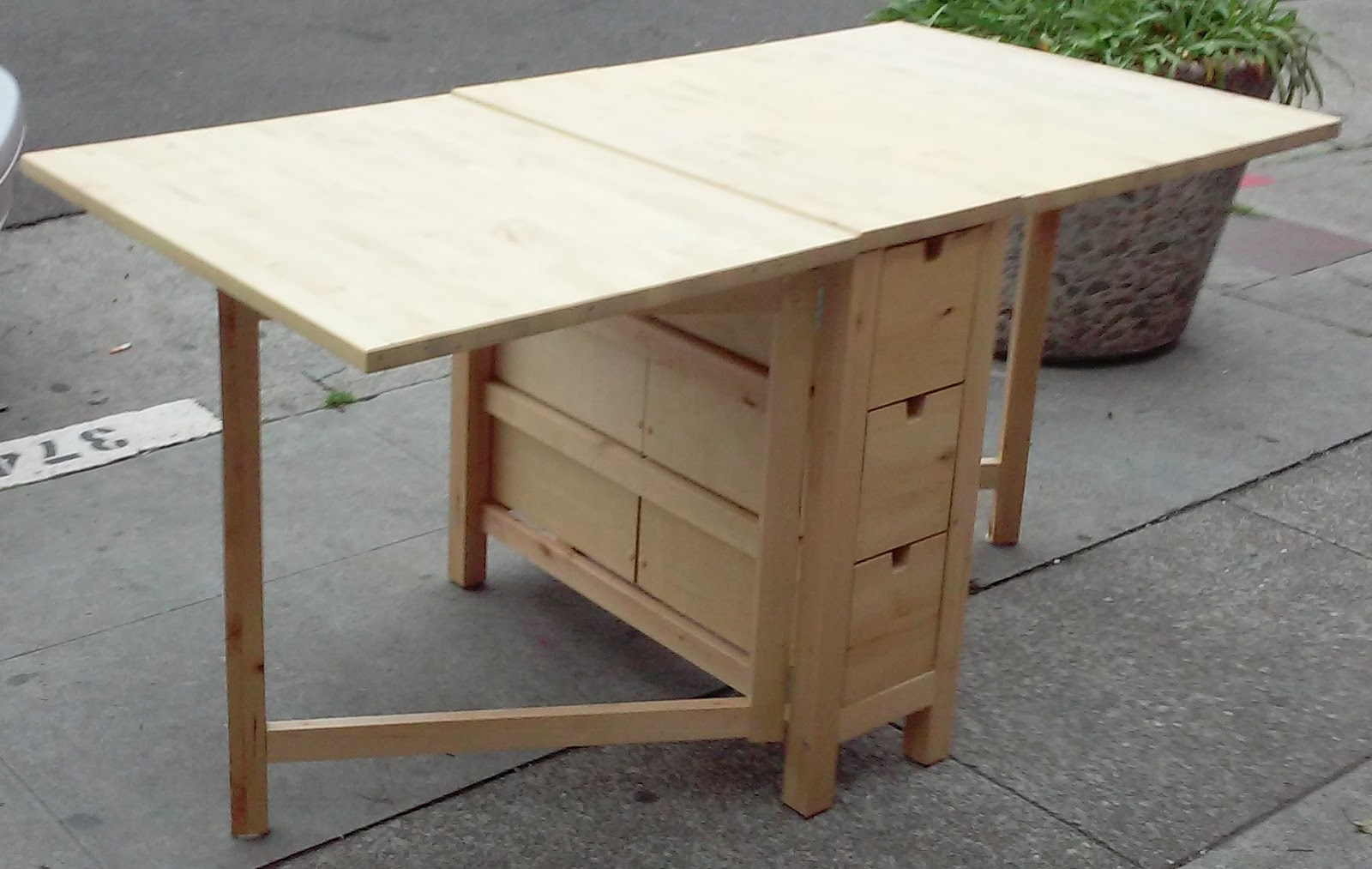 UHURU FURNITURE & COLLECTIBLES: SOLD IKEA Norden Gate Leg Drop Leaf Table - $100