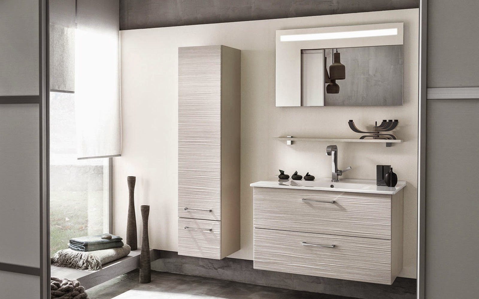meuble rangement salle de bain blanc meuble d coration maison. Black Bedroom Furniture Sets. Home Design Ideas