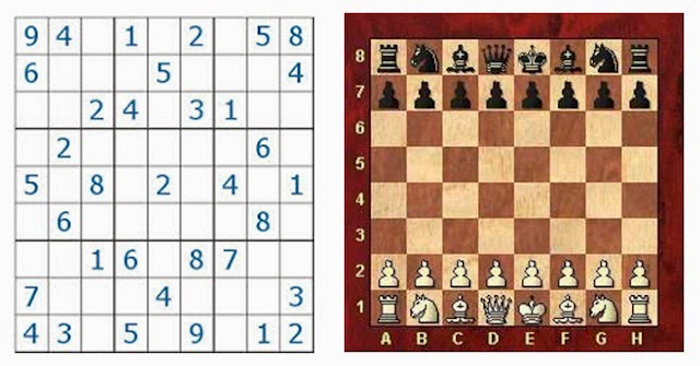 lógica de programação sudoku xadrez