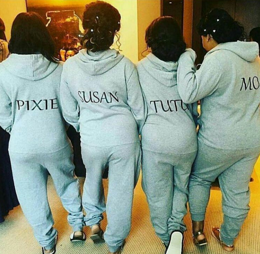 d Photos: Tunde Demuren, Toolz bridesmaids all preparing for the white wedding holding today