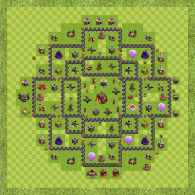 War Base Town Hall Level 10 By anonymous (hdv10-chris TH 10 Layout)