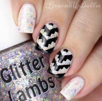 """Marshmallow ABC's"" Glitter Lambs Nail Polish Swatched by @BruisedUpDollie"