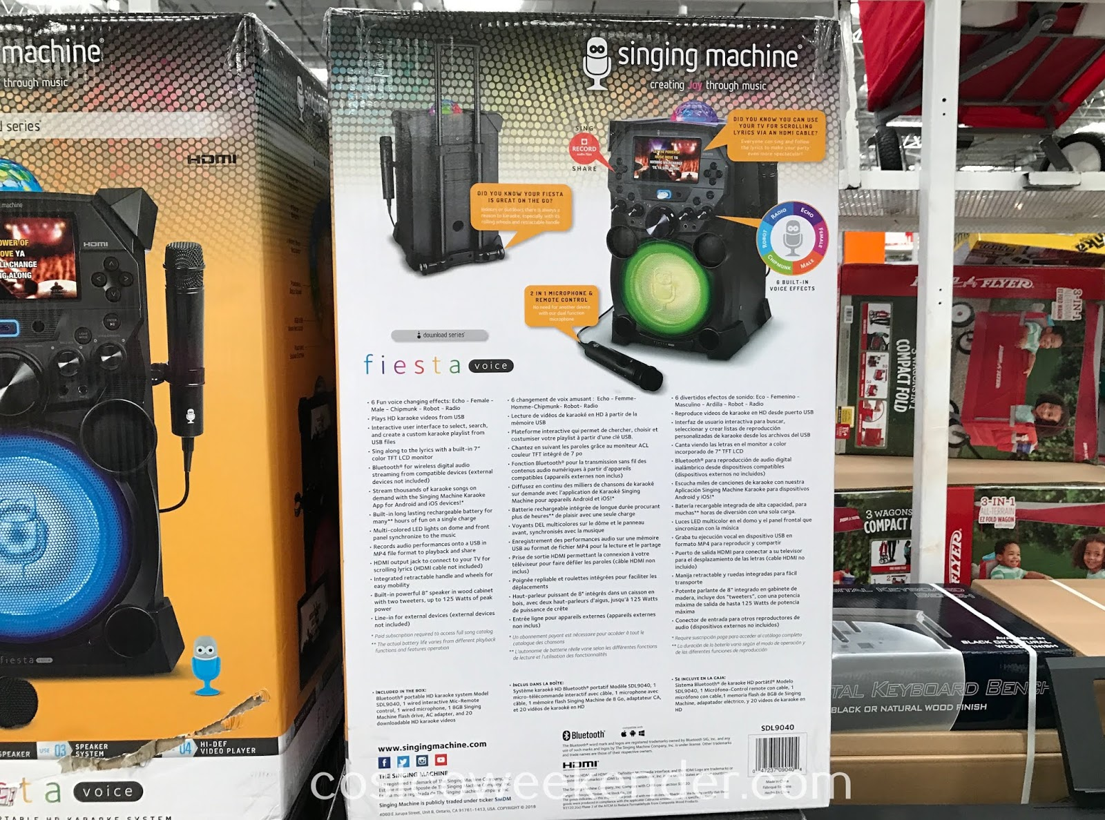 Be the next Taylor Swift with the Singing Machine Fiesta Voice Portable Karaoke System (model SDL9040)