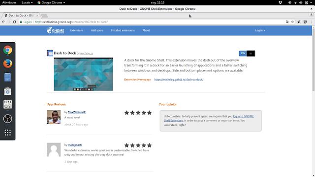 Instalando extensões no GNOME