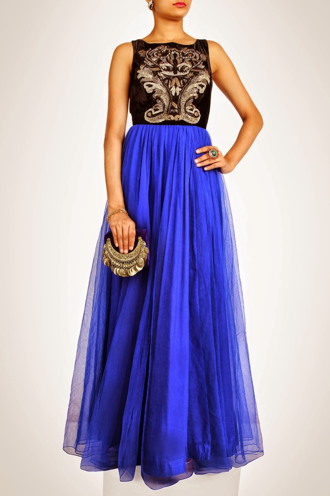 Latest Summer Indian Desinger Gown 2014 L Maxi And Gowns