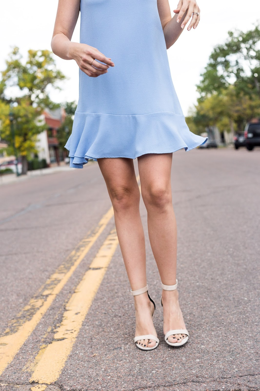 Ruffle Shift Dress by Colorado fashion blogger Eat Pray Wear Love