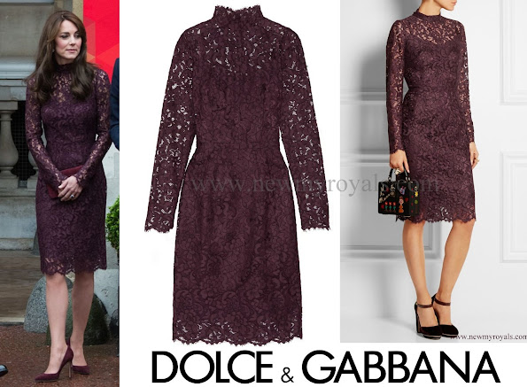 Kate Middleton wore Dolce & Gabbana Guipure Floral-Lace Sheath Dress