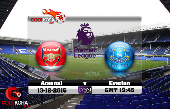 مشاهدة مباراة إيفرتون وآرسنال اليوم 13-12-2016 في الدوري الإنجليزي