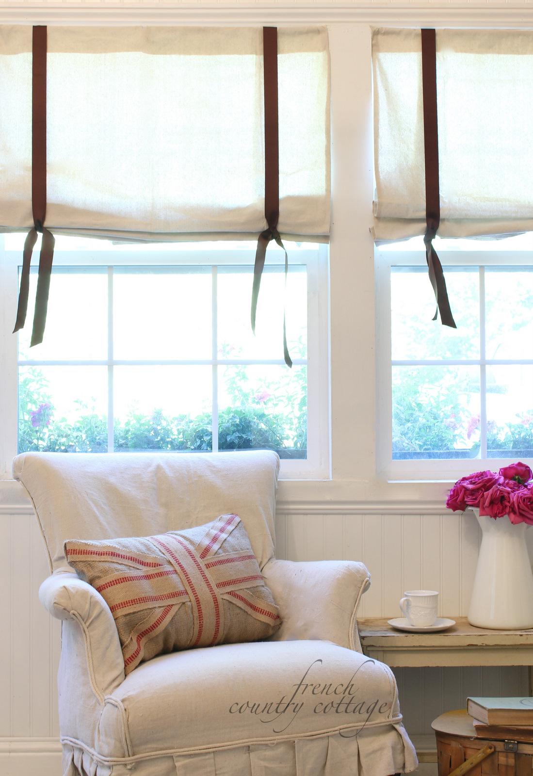 Drop Cloth Window Shades