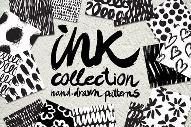Vector collection of ink patterns - Tanya Akhmett