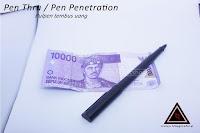 Alat sulap Pen penetration