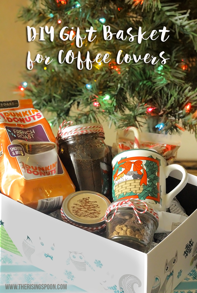 Diy coffee lovers gift basket the rising spoon diy coffee lovers gift basket solutioingenieria Image collections
