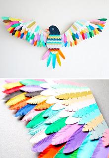 Kreasi Hiasan Kamar Colorful bird