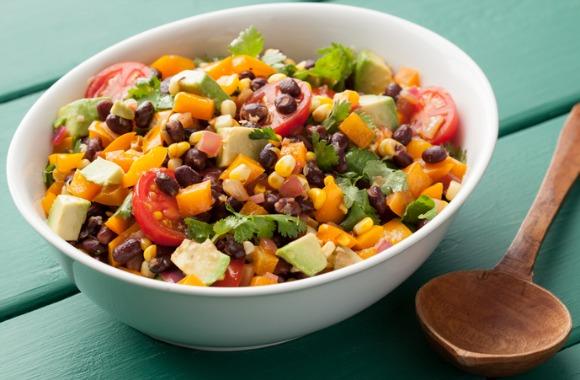 Salad of black beans