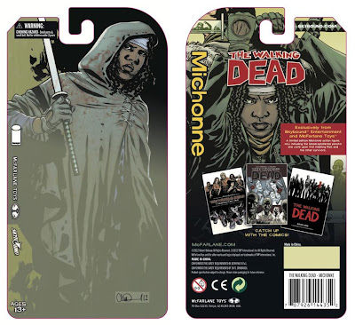 San Diego Comic-Con 2012 Exclusive Bloody Hooded Michonne The Walking Dead Variant Comic Book Action Figure Packaging Artwork by Charlie Adlard