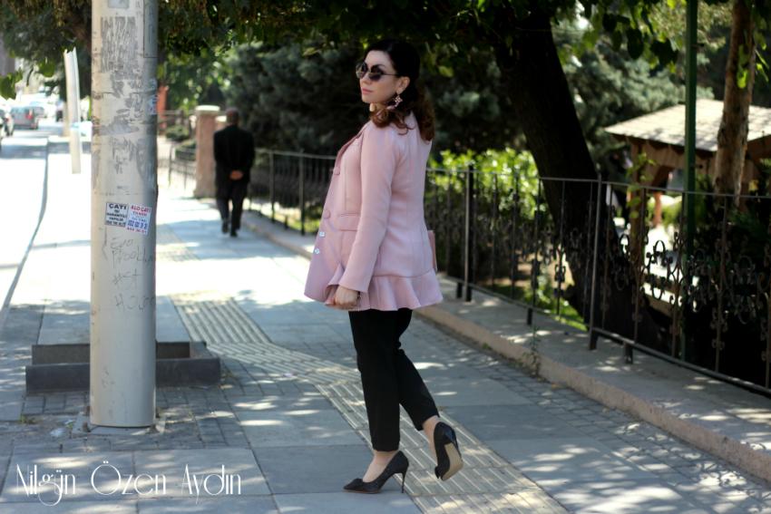 alışveriş-Pembe Palto ve Pembe Ceket-simli stiletto-fashion blogger-moda blogu
