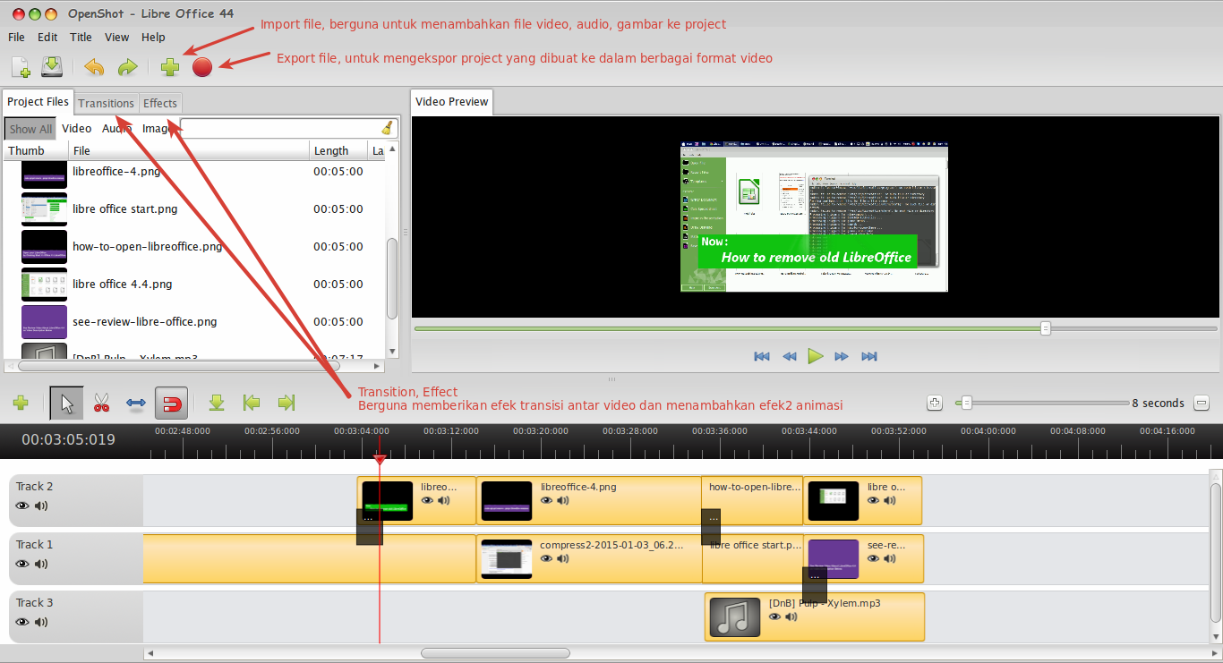Cara Mengedit Video di Linux Dengan OpenShot Video Editor