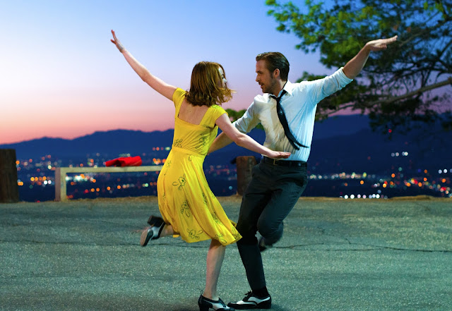 "Emma Stone and Ryan Gosling in Damien Chazelle's magnificent ""La La Land"""
