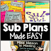 Sub Plans Made Easy