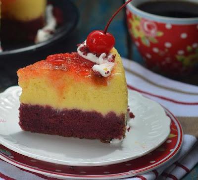 Resep Red Velvet Cheesecake Ala Restoran