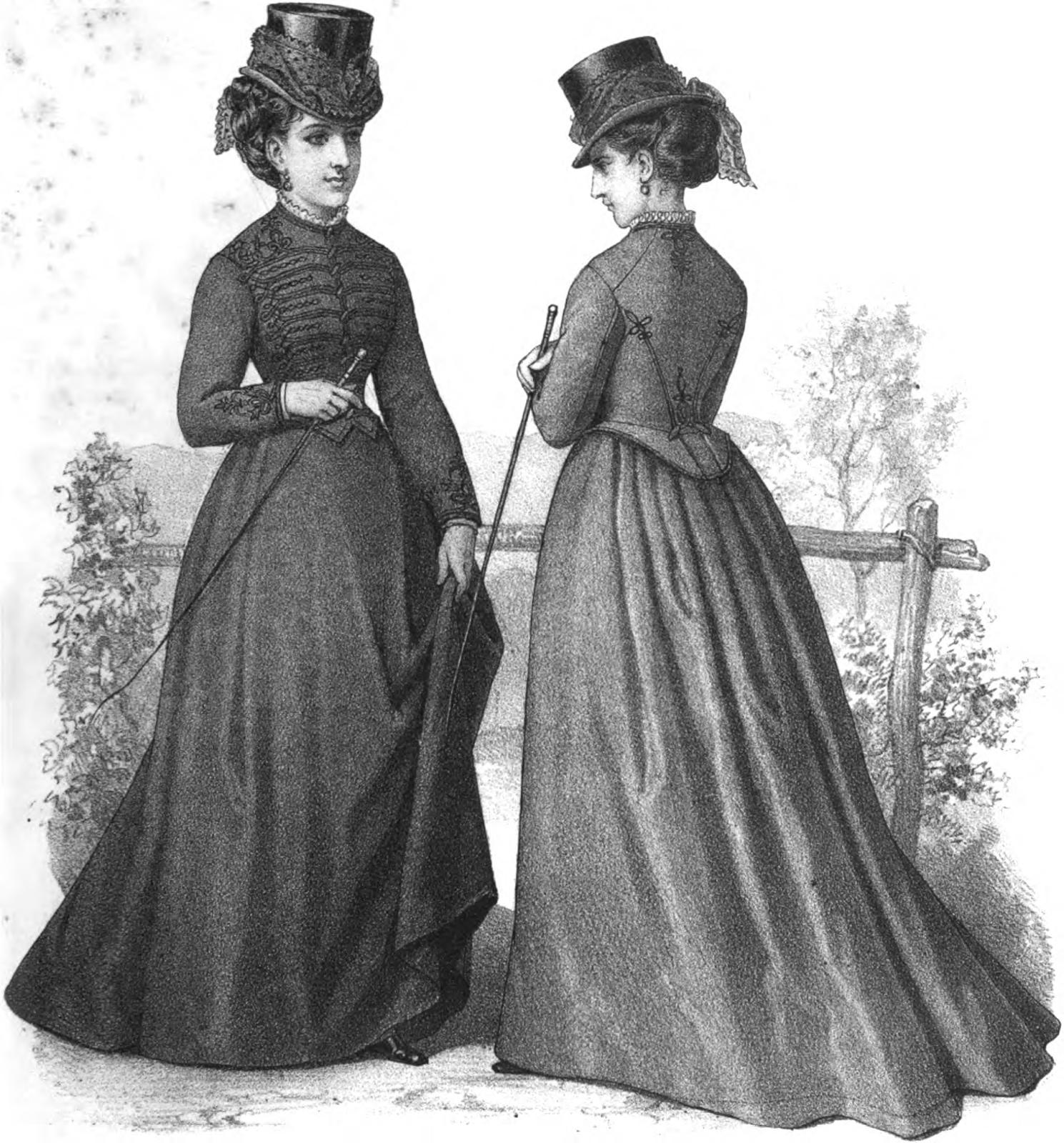19th Century Historical Tidbits: 1871 Fashions