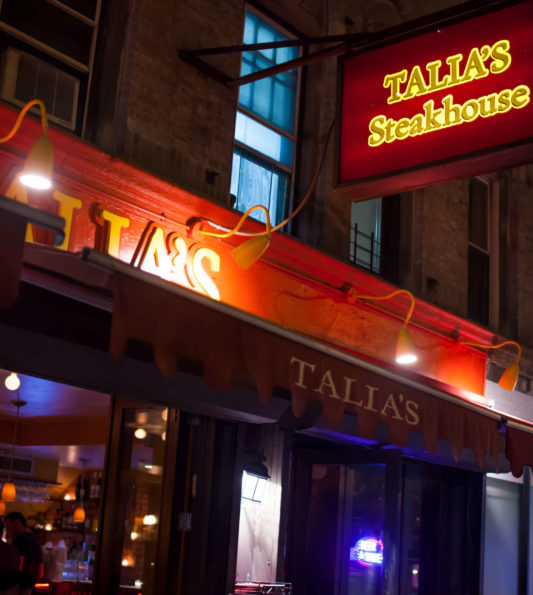 Talia's Steakhouse A Peachy's Pick Since 2017