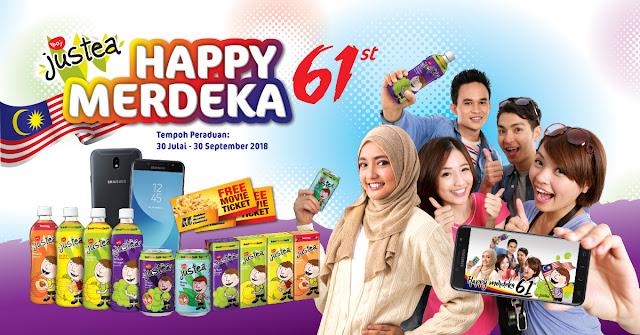 Justea Happy 61st Merdeka | 20 Unit SAMSUNG GALAXY J7 PRO Untuk Di menangi