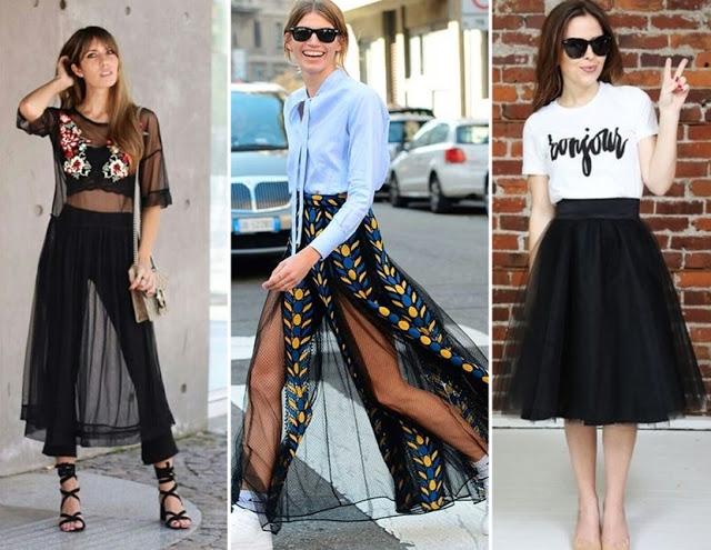 tendencias de moda primavera verão 2018 - tule