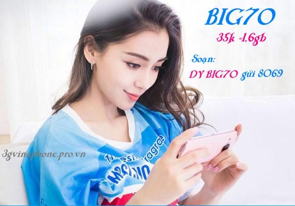 Vinaphone ưu đãi đăng ký gói BIG70 chỉ 35k/tháng trong 3 tháng