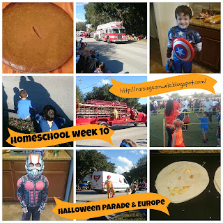 Homeschool Week 10: Halloween Parade & Europe