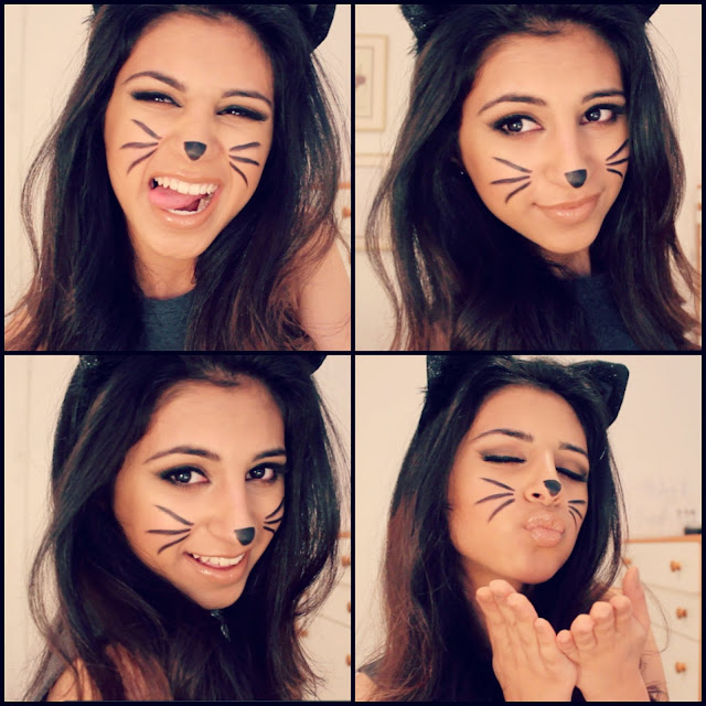 Easy and cute cheshire kitty cat halloween makeup ideas 2017 images