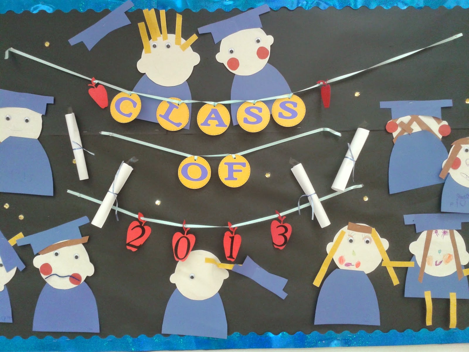 Teach easy resources graduation people decorations for - Kindergarten graduation decorations ...