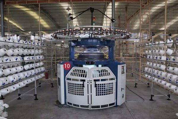 Circular knitting machine used in textile knitting industry