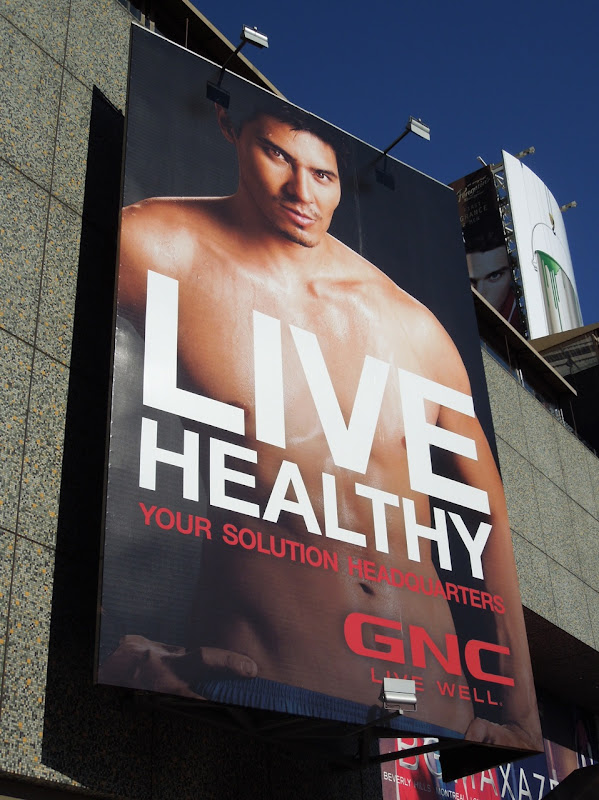 GNC male model Solution HQ billboard