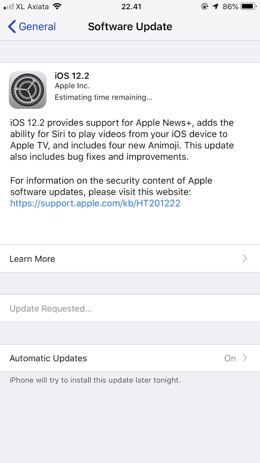 ios software update stuck update requested