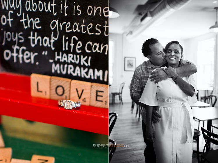 Literati Expresso Bar Coffee shop Romance Engagement session - Sudeep Studio.com Ann Arbor Photographer