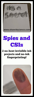 kids science activities invsible ink fingerprinting spy forensic science