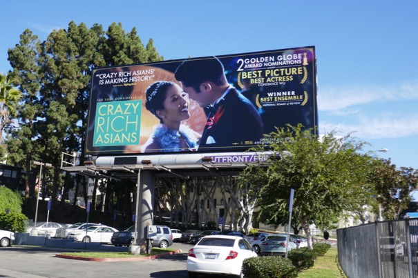 Crazy Rich Asians 2 Golden Globes billboard