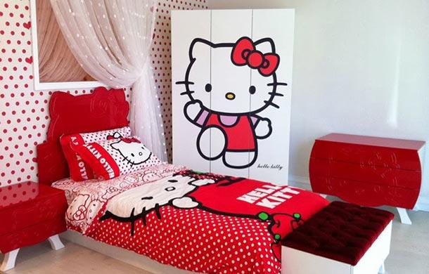 83 kamar tidur anak perempuan minimalis warna pink yang